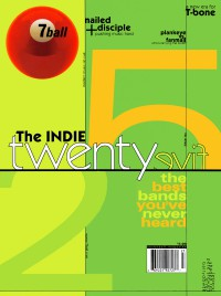 Cover of 7ball, Jul / Aug 1999 #25, featuring Top 25 Indie bands of 1999