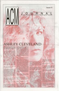 Cover of ACM Journal, 1991 #6, featuring Ashley Cleveland