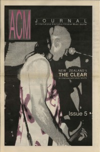 Cover of ACM Journal, 1991 #5, featuring The Clear