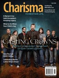 Cover of Charisma, Jun 2008 v. 33, i. 11, featuring Casting Crowns