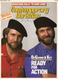 Cover of CCM, Sep 1985 v. 8, i. 3, featuring DeGarmo and Key