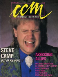 Cover of CCM, Nov 1986 v. 9, i. 5, featuring Steve Camp