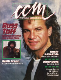 Cover of CCM, Dec 1987 v. 10, i. 6, featuring Russ Taff