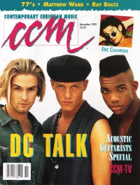 Cover of CCM, Nov 1992 v. 15, i. 5, featuring dc Talk