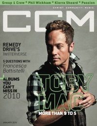 Cover of CCM Digital, Jan 2010, featuring TobyMac
