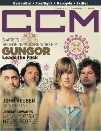 Cover of CCM Digital, Feb 2010, featuring Gungor
