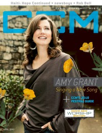 Cover of CCM Digital, Apr 2010, featuring Amy Grant