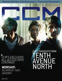 Cover of CCM Digital, May 2010, featuring Tenth Avenue North