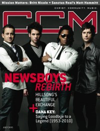 Cover of CCM Digital, Jul 2010, featuring The Newsboys