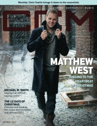 Cover of CCM Digital, Dec 2011, featuring Matthew West