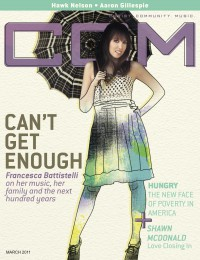 Cover of CCM Digital, Mar 2011, featuring Francesca Battistelli