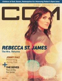 Cover of CCM Digital, Apr 2011, featuring Rebecca Saint James