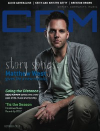 Cover of CCM Digital, Oct 2012, featuring Matthew West