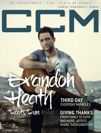 Cover of CCM Digital, Nov 2012, featuring Brandon Heath