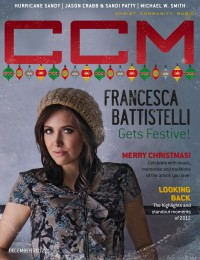 Cover of CCM Digital, Dec 2012, featuring Francesca Battistelli