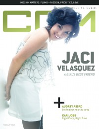 Cover of CCM Digital, Feb 2012, featuring Jaci Velásquez