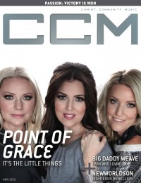 Cover of CCM Digital, May 2012, featuring Point of Grace