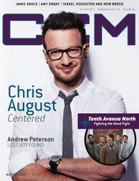 Cover of CCM Digital, Aug 2012, featuring Chris August