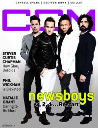 Cover of CCM Digital, Oct 2013, featuring The Newsboys