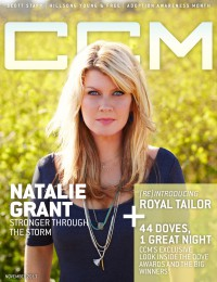 Cover of CCM Digital, Nov 2013, featuring Natalie Grant