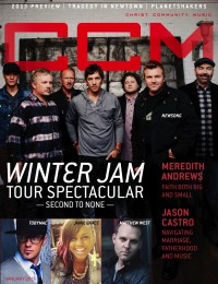 Cover of CCM Digital, Jan 2013, featuring NewSong & Winter Jam