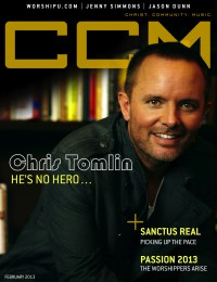 Cover of CCM Digital, Feb 2013, featuring Chris Tomlin