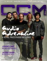 Cover of CCM Digital, Mar 2013, featuring Audio Adrenaline