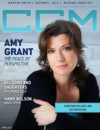 Cover for April 2013, featuring Amy Grant