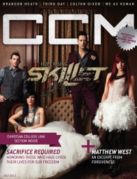 Cover of CCM Digital, Jul 2013, featuring Skillet