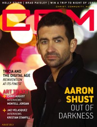Cover of CCM Digital, Aug 2013, featuring Aaron Shust