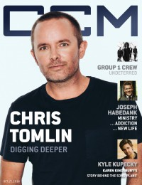 Cover of CCM Digital, 15 Oct 2014, featuring Chris Tomlin