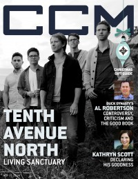 Cover of CCM Digital, 15 Nov 2014, featuring Tenth Avenue North