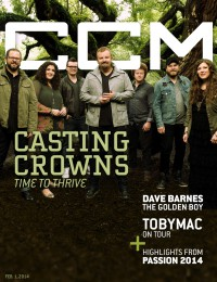 Cover of CCM Digital, 1 Feb 2014, featuring Casting Crowns