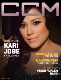 Cover of CCM Digital, 15 Mar 2014, featuring Kari Jobe