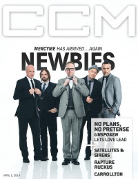 Cover of CCM Digital, 1 Apr 2014, featuring MercyMe