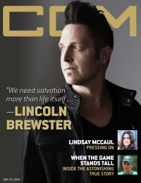 Cover of CCM Digital, 15 Aug 2014, featuring Lincoln Brewster