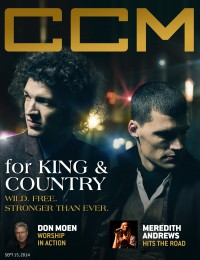 Cover of CCM Digital, 15 Sep 2014, featuring For King & Country