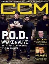 Cover of CCM Digital, 15 Nov 2015, featuring P.O.D.