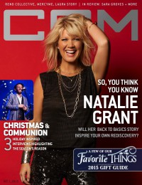 Cover of CCM Digital, 1 Dec 2015, featuring Natalie Grant