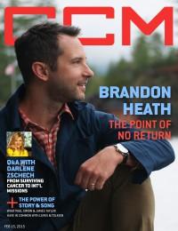 Cover of CCM Digital, 15 Feb 2015, featuring Brandon Heath