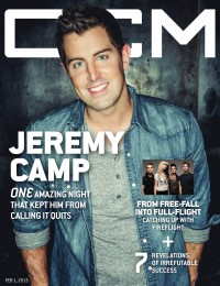 Cover of CCM Digital, 1 Feb 2015, featuring Jeremy Camp
