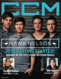 Cover of CCM Digital, 15 Apr 2015, featuring Hawk Nelson