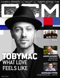 Cover of CCM Digital, 15 Aug 2015, featuring TobyMac