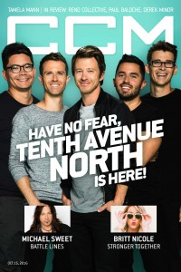 Cover of CCM Digital, 15 Oct 2016, featuring Tenth Avenue North