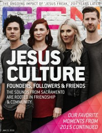 Cover of CCM Digital, 15 Jan 2016, featuring Jesus Culture