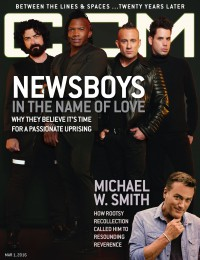 Cover of CCM Digital, 1 Mar 2016, featuring The Newsboys, Michael W. Smith
