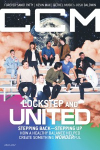 Cover of CCM Digital, 15 Jun 2017, featuring Hillsong United