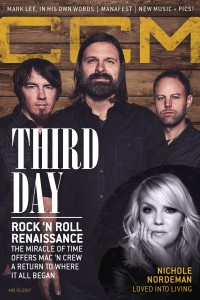 Cover of CCM Digital, 15 Aug 2017, featuring Third Day