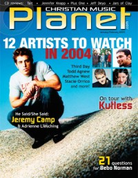 Cover of Christian Music Planet, Jan / Feb 2004 v. 3, i. 1, featuring Jeremy Camp