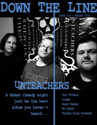 Cover of Down The Line, Aug 2015 #18, featuring Unteachers